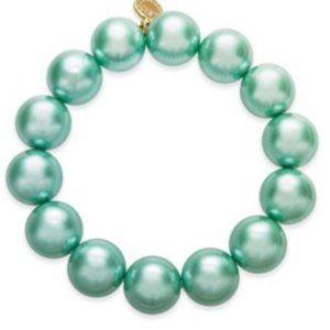 Charter Club Mint Green Faux Pearl Bracelet (V66)